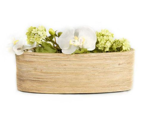 Flower, Petal, Basket, Fashion accessory, Flowering plant, Home accessories, Cut flowers, Wicker, Beige, Artificial flower,