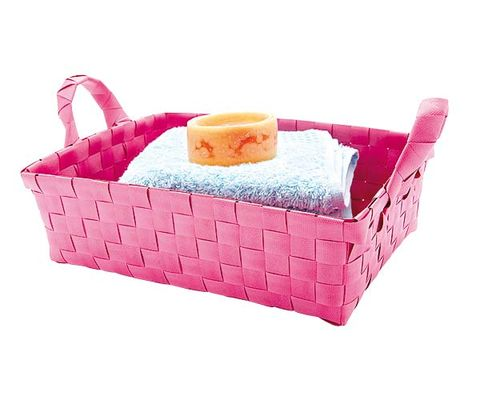 Wicker, Basket, Home accessories, Storage basket, Pillow, Throw pillow, Picnic basket, Peach, Cushion, Dog bed,
