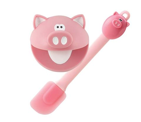 Pink, Toy, Baby toys, Snout, Peach, Plastic, Suidae, Baby Products, Domestic pig,
