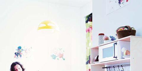 Room, Floor, Flooring, Pink, Wood flooring, Laminate flooring, Countertop, Kitchen, Home, Design,