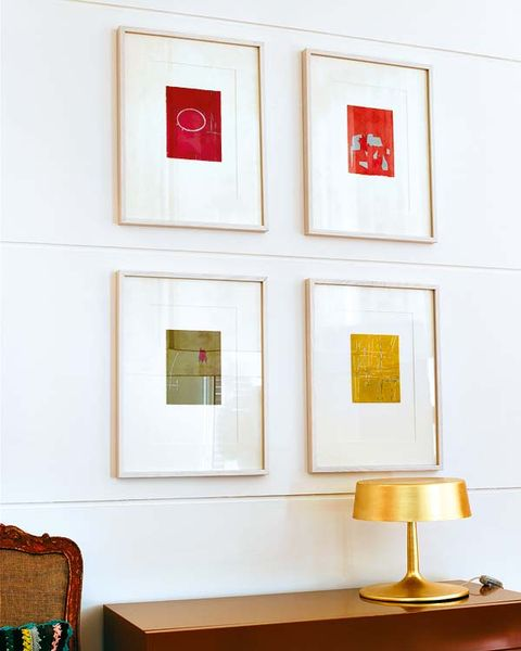 Wall, Room, Interior design, Rectangle, Lampshade, Lamp, Paint, Lighting accessory, Collection, Coquelicot,