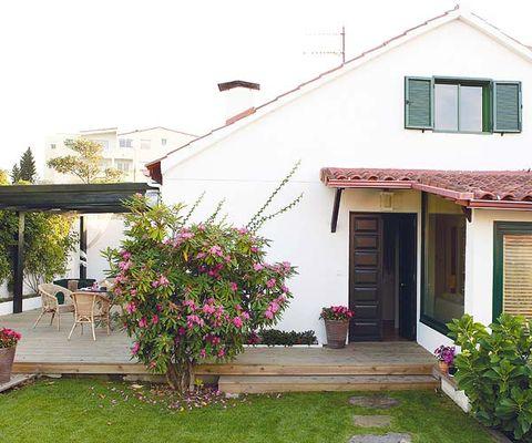 Plant, Flowerpot, House, Building, Real estate, Home, Garden, Fixture, Door, Shrub,