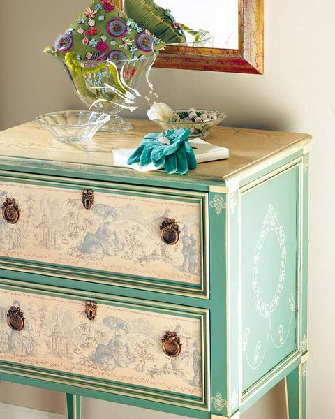 Green, Drawer, Teal, Room, Turquoise, Aqua, Sideboard, Cabinetry, Chest of drawers, Natural material,