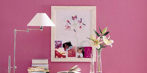 Room, Interior design, Pink, Furniture, Table, Flooring, Magenta, Peach, Interior design, Violet,