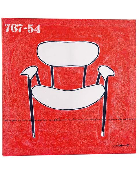 Red, Line, Furniture, Chair, Paint, Rectangle, Painting, Illustration, Drawing, Still life photography,
