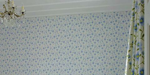 Blue, Room, Interior design, Textile, Linens, Wall, Bedding, Bed, Bed sheet, Interior design,