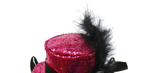 Red, Pink, Magenta, Costume accessory, Carmine, Maroon, Violet, Natural material, Costume hat, Still life photography,