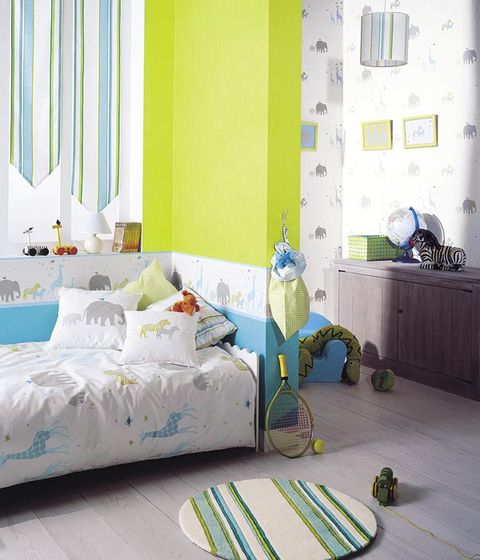 Blue, Room, Green, Interior design, Textile, Bed, Home, Wall, Bedding, Turquoise,