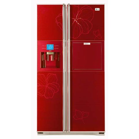 Red, Maroon, Major appliance, Refrigerator, Computer accessory, Magenta, Freezer, Machine, Rectangle, Coquelicot,