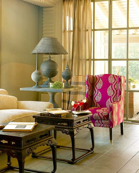 Interior design, Room, Furniture, Floor, Interior design, Lamp, Lampshade, Flooring, Living room, Home,