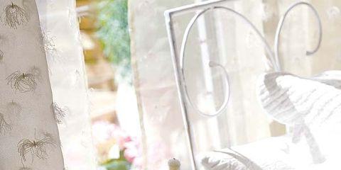 Textile, Interior design, Tablecloth, Linens, Interior design, Lavender, Paint, Peach, Creative arts, Home accessories,