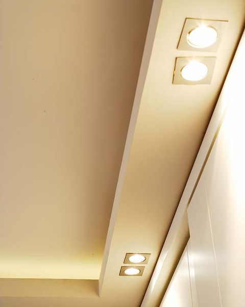 Yellow, Property, Wall, Ceiling, Line, Light, Fixture, Electricity, Tan, Light fixture,