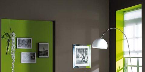 Room, Interior design, Dishware, Wall, Serveware, Interior design, Picture frame, Grey, Home accessories, Lamp,