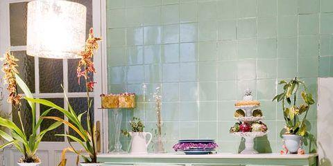 Yellow, Interior design, Room, Furniture, Floor, Flooring, Table, Interior design, Lavender, Home,