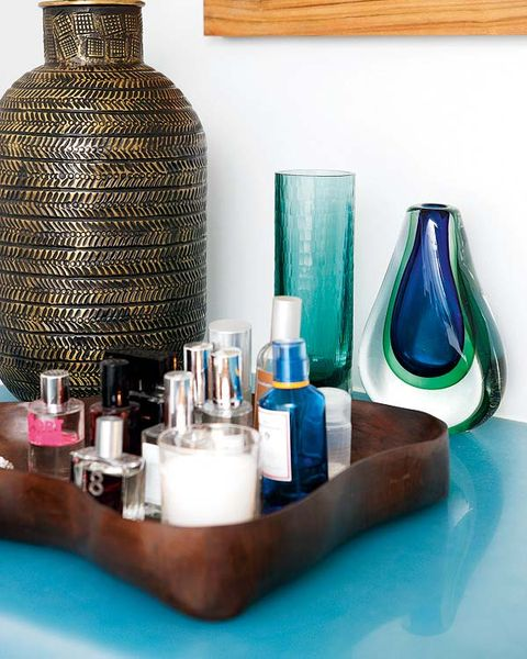 Blue, Brown, Liquid, Teal, Turquoise, Paint, Bottle, Aqua, Interior design, Glass bottle,