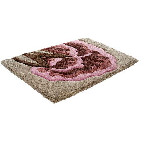 Textile, Purple, Pattern, Violet, Home accessories, Magenta, Beige, Mat, Rug, Door mat,