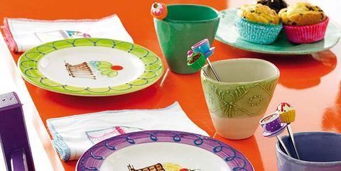mesa infantil menaje divertido