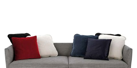 Brown, Furniture, White, Couch, Outdoor furniture, Pillow, Throw pillow, Rectangle, Cushion, Black,