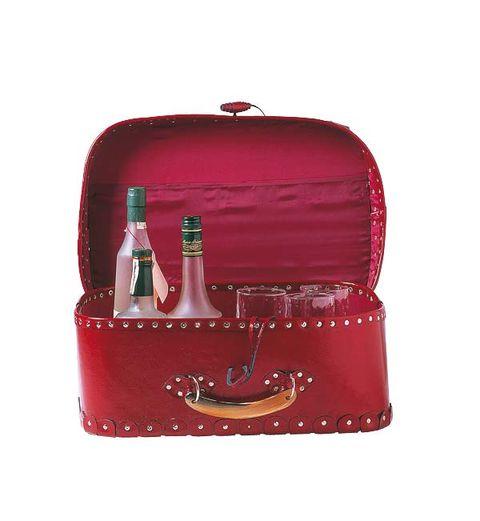 Bottle, Red, Glass bottle, Maroon, Distilled beverage, Bottle cap, Coquelicot, Liqueur, Cylinder, Barware,