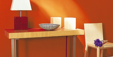 Room, Table, Furniture, Interior design, Desk, Lamp, Picture frame, End table, Home accessories, Interior design,