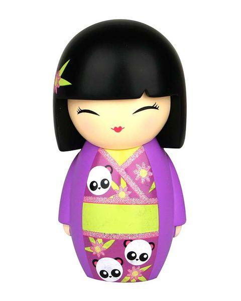 Purple, Toy, Magenta, Black hair, Violet, Bangs, Lavender, Doll, Kimono, Hime cut,