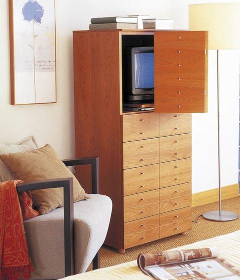 Wood, Room, Cabinetry, Drawer, Display device, Wood stain, Cupboard, Hardwood, Chest of drawers, Flat panel display,