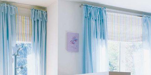 Blue, Interior design, Room, Floor, Stuffed toy, Textile, Flooring, Home, Window treatment, Teal,