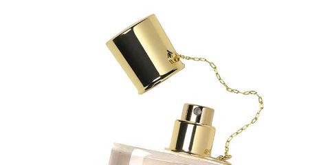 Product, Liquid, Metal, Beige, Material property, Peach, Cosmetics, Silver, Label, Perfume,
