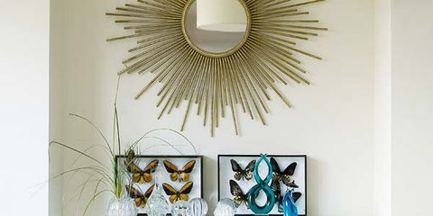 Room, Teal, Interior design, Wall, Shelving, Turquoise, Aqua, Paint, Shelf, Book,