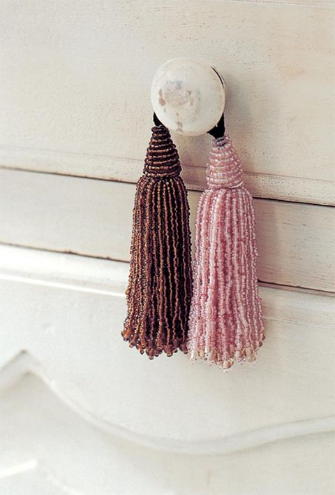 Textile, Lavender, Knot, Natural material,