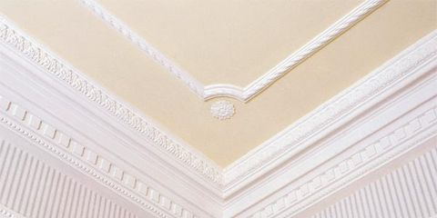 Ceiling, Line, Wall, Pattern, Molding, Beige, Material property, Symmetry, Building material,