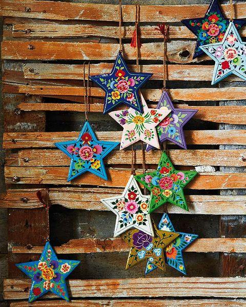 Pattern, Christmas decoration, Art, Majorelle blue, Christmas, Ornament, Creative arts, Triangle, Craft, Star,
