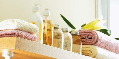 Product, Yellow, Textile, Bottle, Household supply, Home accessories, Glass bottle, Linens, Plastic bottle, Peach,