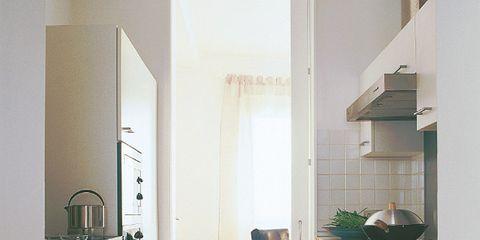 Wood, Room, Floor, Property, Interior design, Flooring, Countertop, Cupboard, Home, Kitchen,