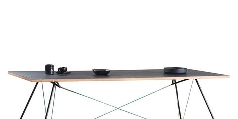 Table, Line, Rectangle, Parallel, Beige, Plywood, Computer monitor accessory, Steel, Balance,