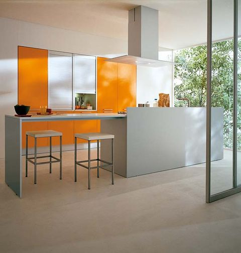 Interior design, Floor, Architecture, Glass, Flooring, Room, Table, Wall, Orange, Amber,