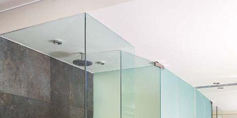 Floor, Glass, Room, Architecture, Flooring, Interior design, Wall, Ceiling, Tile, Fixture,
