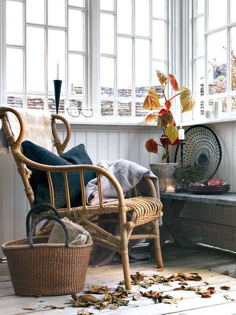 Glass, Interior design, Fixture, Chair, Interior design, Wicker, Basket, Daylighting, Armrest, Home accessories,