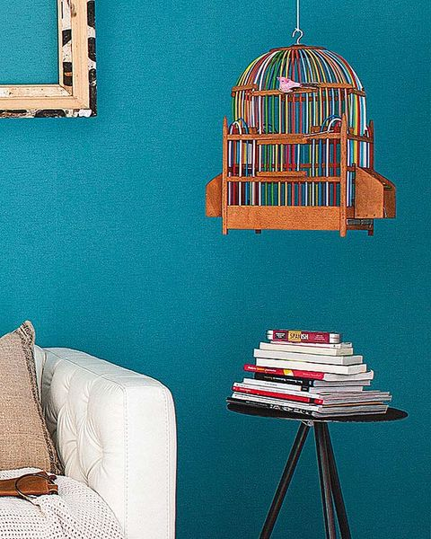 Wall, Cage, Teal, Turquoise, Aqua, Paint, Home accessories, Pet supply, Linens, Pillow,