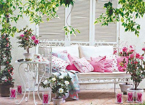 Decora con flores el porche