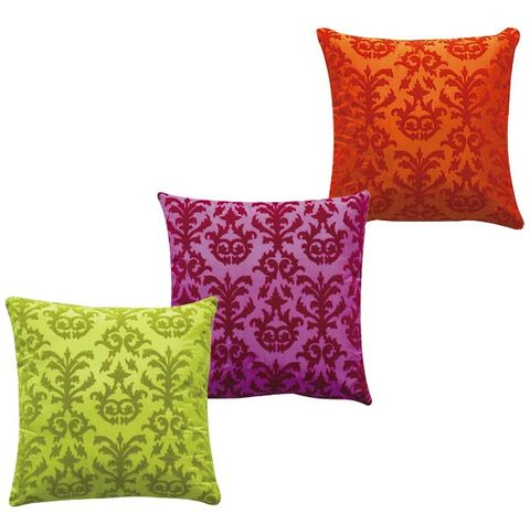 Yellow, Cushion, Textile, Throw pillow, Pillow, Purple, Linens, Home accessories, Violet, Rectangle,