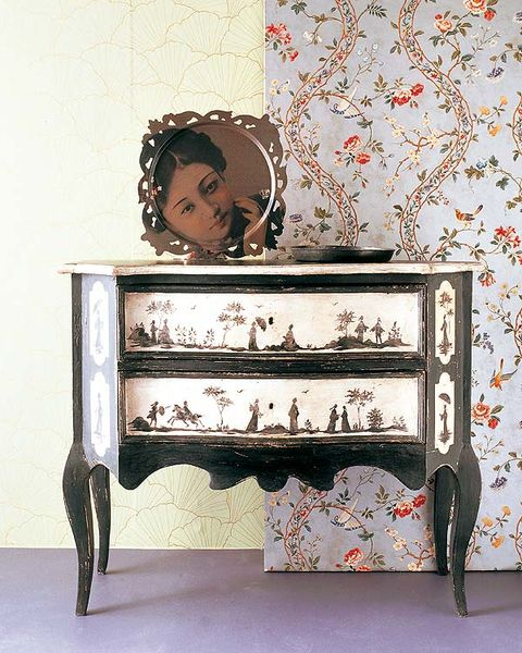 Room, Drawer, Chest of drawers, Sideboard, Nightstand, Dresser, Wallpaper, Chest, Chiffonier, End table,