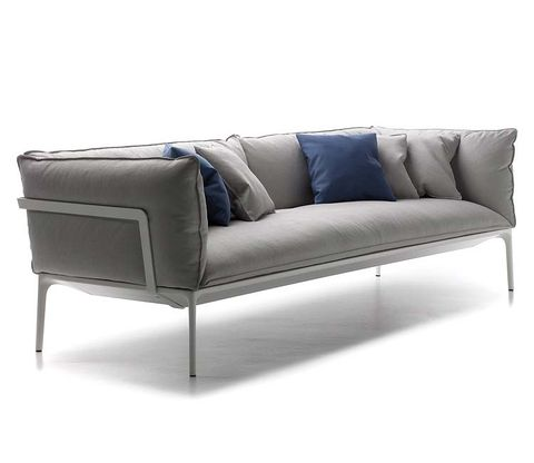 Blue, Brown, Couch, White, Furniture, Style, Rectangle, Black, Electric blue, Living room,