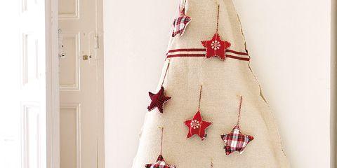 Interior design, Stuffed toy, Room, Door, Red, Toy, Interior design, Christmas decoration, Home door, Costume accessory,