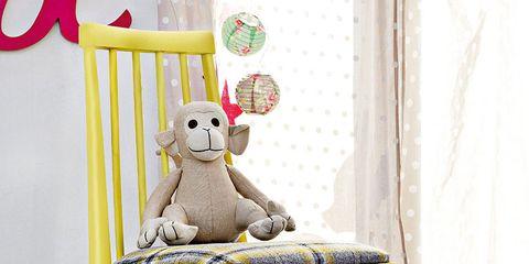 Yellow, Toy, White, Stuffed toy, Baby toys, Teddy bear, Plush, Fruit, Balance, Banana family,