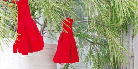 Red, Christmas decoration, Carmine, Interior design, Christmas, Christmas ornament, Holiday ornament, Costume accessory, Holiday, Ornament,