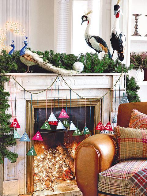 Interior design, Christmas decoration, Interior design, Home, Beak, Bird, Christmas, Curtain, Holiday, Ornament,