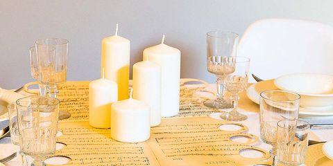 Dishware, Serveware, Drinkware, Tableware, Glass, Candle holder, Candle, Stemware, Handwriting, Wax,