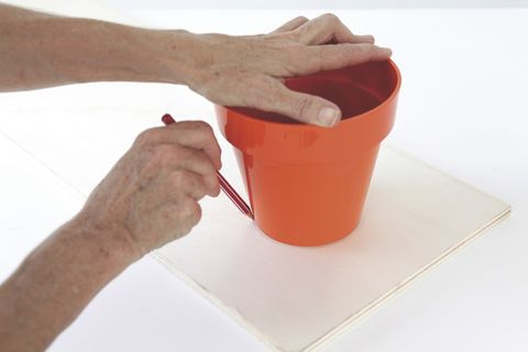 Finger, Wrist, Nail, Coquelicot, Peach, Bucket, Plastic, Pottery,