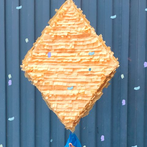 Blue, Wood, Yellow, Orange, Cone, Majorelle blue, Peach, Triangle, Symmetry,